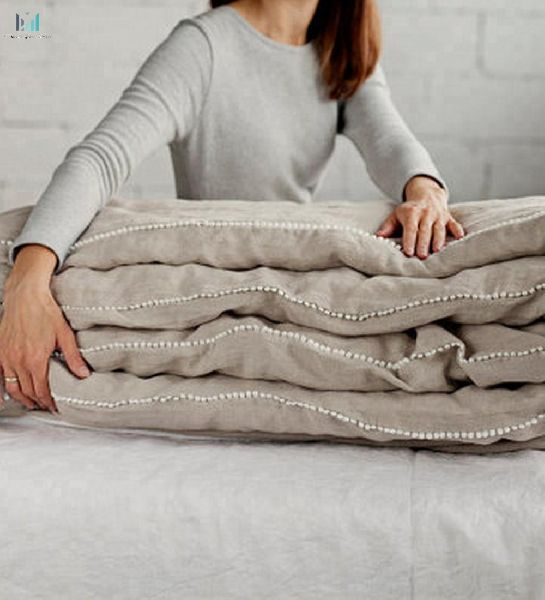 Soft Flax Linen Bedding White Grey, Flax Linen Bedding Manufacturers In India