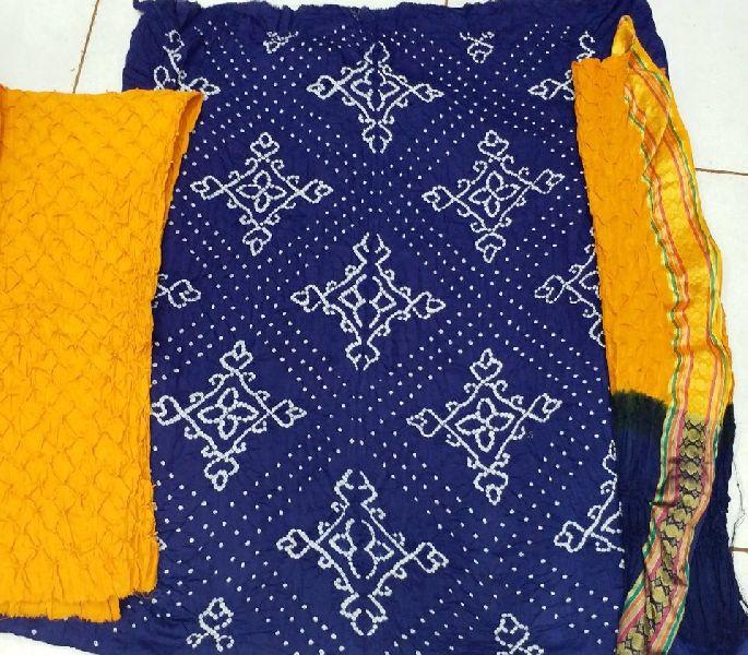 c259dc7c8a Satin cotton Bandhani Dress MATERIAL Manufacturer in Gujarat India ...