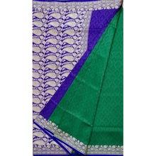 Tanchoi Jamdani Art Silk Banrasi Saree