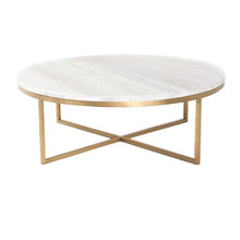 Gold Coffee Table With Marble Top Manufacturer In Uttar Pradesh
