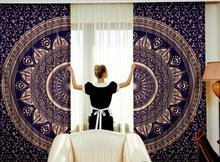 Blue Ombre Mandala Curtains