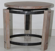 Antique Wooden Bar Stool