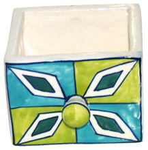 Colored ceramic chest drawer