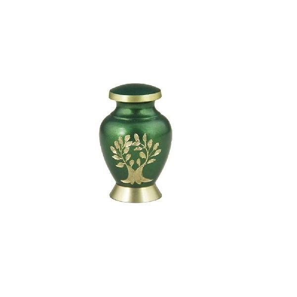Green Tree Brass Cremation Urn