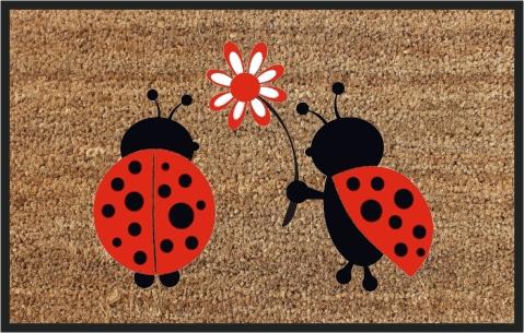 Coir Ladybug Door Mats (SE-32178)