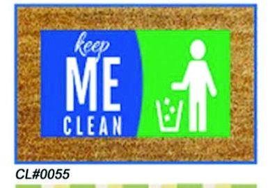 PVC Backed Keep Me Clean Coir Mats (SE-32170)