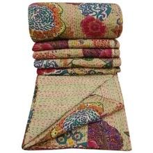 Floral Kantha Quilts Blanket Bedspared