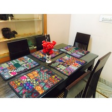 Dinning Cotton Placemats Vintage Patchwork Tableware Pads