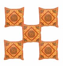 Jaipur Handmade Mirror Work Cushion Cover