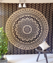 Ombre mandala tapestry queen cotton