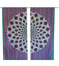 Peacock Tree of Life Curtains cotton