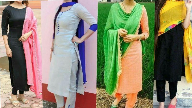 Plain Salwar Suits