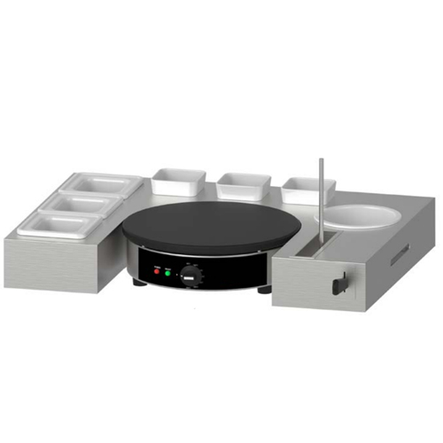1-Plate Crepe Maker With Serving Station