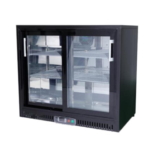 196L 2 Sliding Doors Fancooling Bar Refrigerator