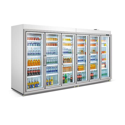 3 Doors Small Split Type Fancooling Refrigerator Beverage Showcase