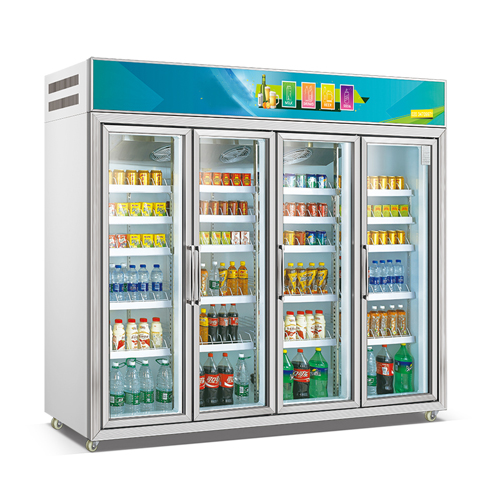5 Doors Assembling Combination Type Fancooling Refrigerator Beverage Showcase