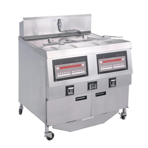 Freestanding 2-Tank 4-Basket Electric Open Fryer