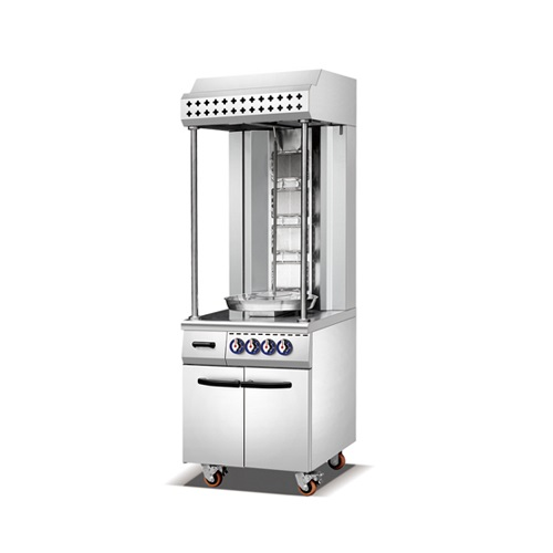 Single Row Gas Shawarma Machine Cabinet