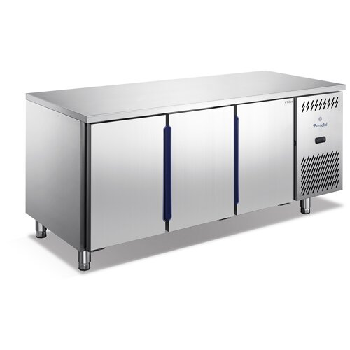 Triple Doors Fan Cooling Under Counter Freezer