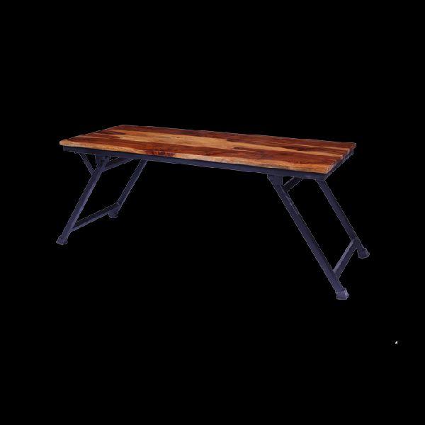 Baithak Folding Bench In Natural Finish