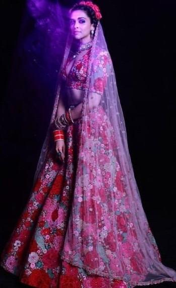 Deepika Padukone Style Bridal Lehenga Choli by FKF Designs ...