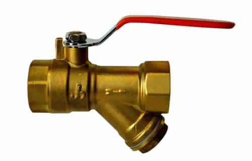 BALL VALVE WITH STRAINER