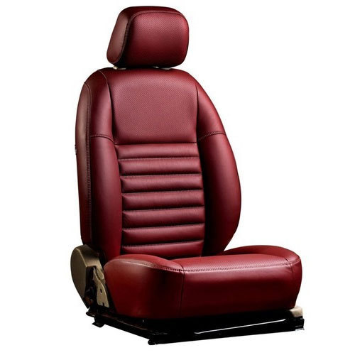 Maroon Rexine Car Seat Covers