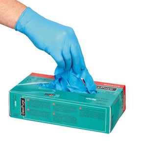 GLOVES DISPOSABLE NITRILE HONEYWELL