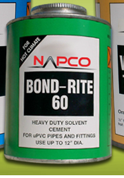 PVC PIPE CEMENT CLEAR NAPCO BONDRITE