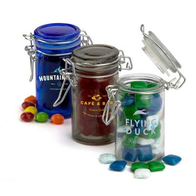 Round Glass Candy Jar