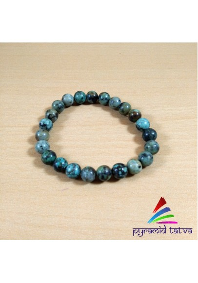 African Turquoise Bead Bracelet (ptb-75)