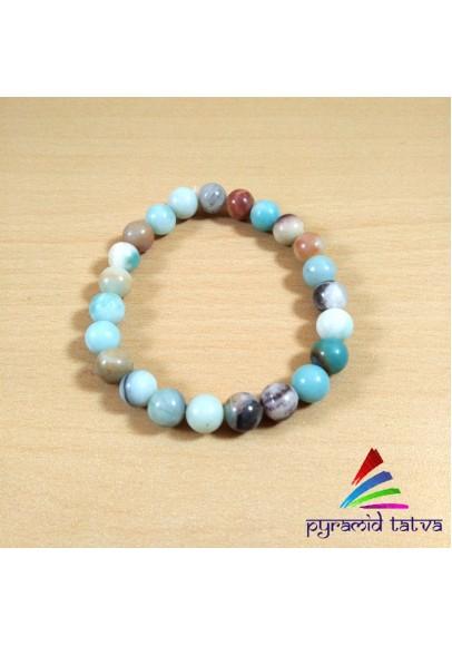Amazonite Bead Bracelet (ptb-564)