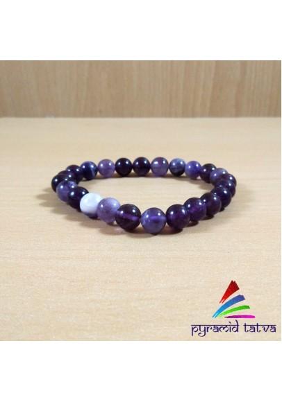 Amethyst Bead Bracelet (ptb-83)