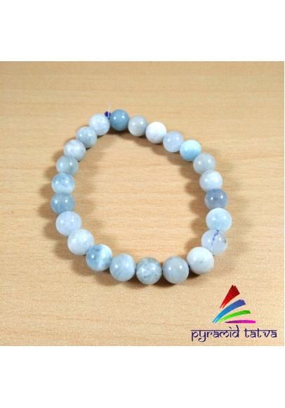Aquamarine Bead Bracelet (PTR0001)