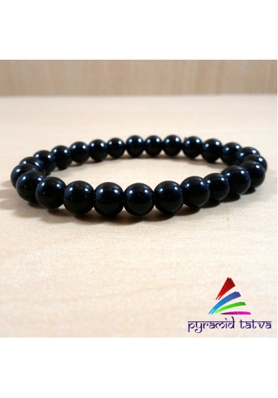 Black Obsidian Bead Bracelet (ptb-5667)