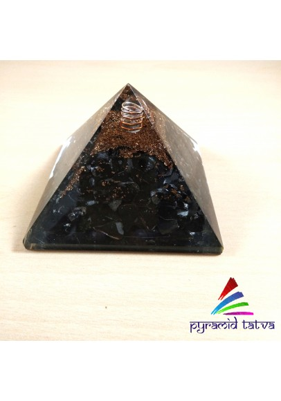 Black Tourmaline Orgonite Pyramid (ptp-321)