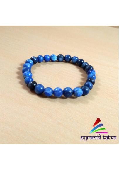 Blue Kyanite Bead Bracelet (ptb-84)