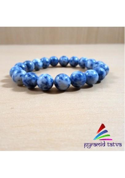Blue Sodalite Bead Bracelet (ptb-754)