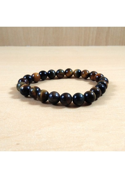 Blue Tiger Eye Beads Bracelet (Ptt-51644)