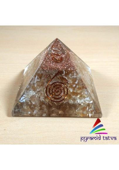 Citrine Orgonite Pyramid (ptp-333)