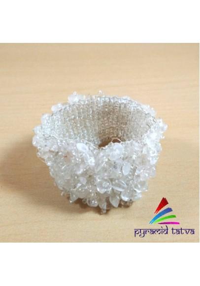 Clear Quartz Chip Bracelet 1 (pta-29)