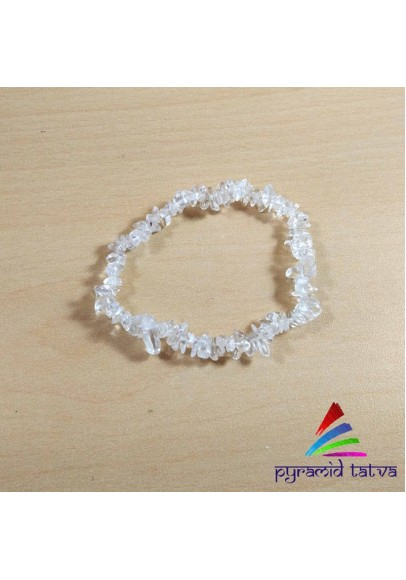 Clear Quartz Chip Bracelet (pta-29)