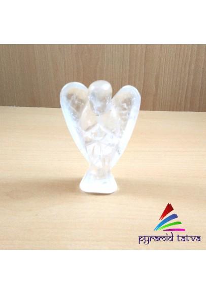 Clear Quartz Gemstone Angel (pta- 5)