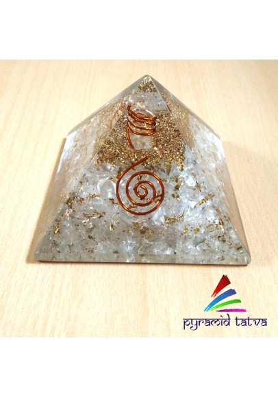 Clear Quartz Orgonite Pyramid (ptp-669)