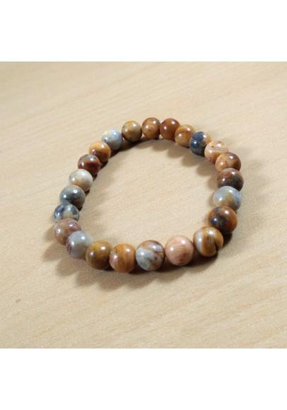 Crazy Lace Agate Beads Bracelet (ptt-5464)
