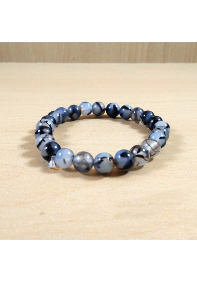 Dragon Agate Beads Bracelet (ptt-51648)