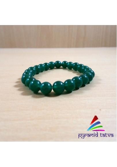 Green Jade Bead Bracelet (ptb-8954)