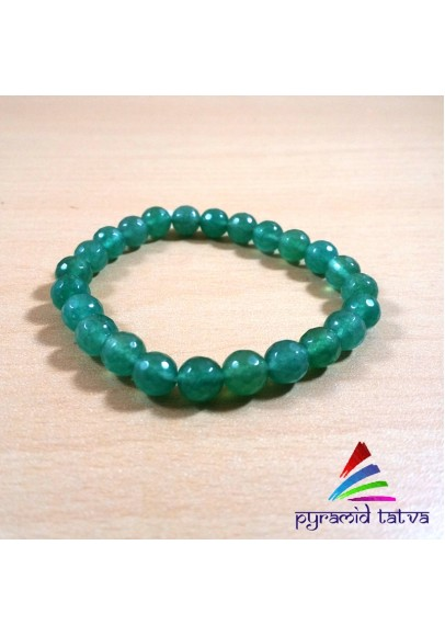 Green Jade Diamond Cut Bracelet (ppp-02)