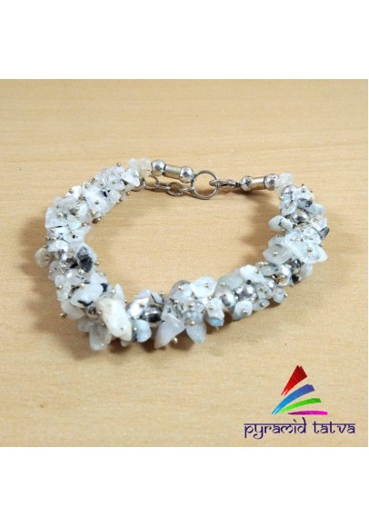 Moonstone Uncut Bracelet (ptb--58)