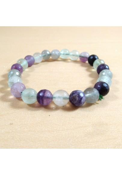 Multi Fluorite Beads Bracelet (ptt-58941)